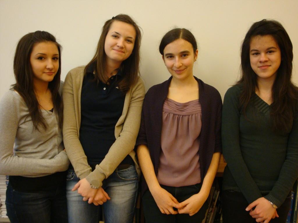 Die fti-Scouts 2012: Melani, Valentina, Anna, Isabel (v. links)