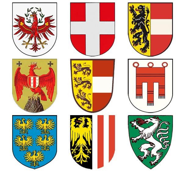 Wappen der Bundesländer in Österreich
