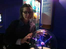 Mercedes in der interaktiven Ausstellung im CERN