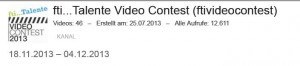 Statistik Logo fti Talente Video Contest