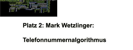 Wir gratulieren Mark Wetzlinger zum 2. Preis