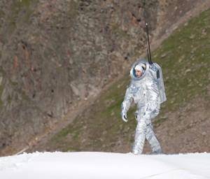 Analogastronaut bei der Mars-Missions-Simulation 2010 am Kaunertaler Gletscher