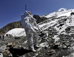 Analogastronaut bei der Mars-Missions-Simulationen 2010 am Kaunertaler Gletscher