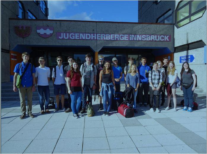 Ankunft der Jugendlichen des Junior Researchers Programme im Jugendgästehaus mit Verena Wachter vom ÖWF und fti...remixed