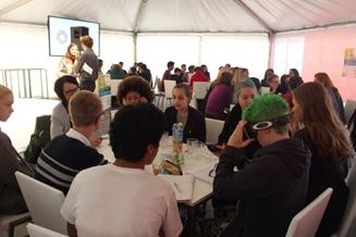 fti-Speeddating beim Wiener Forschungsfest mit Schülerinnen der AHS Rahlgasse