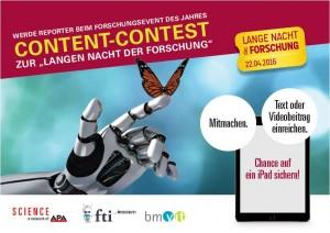 Content Contest für Schülerinnen von 16-19 Jahren