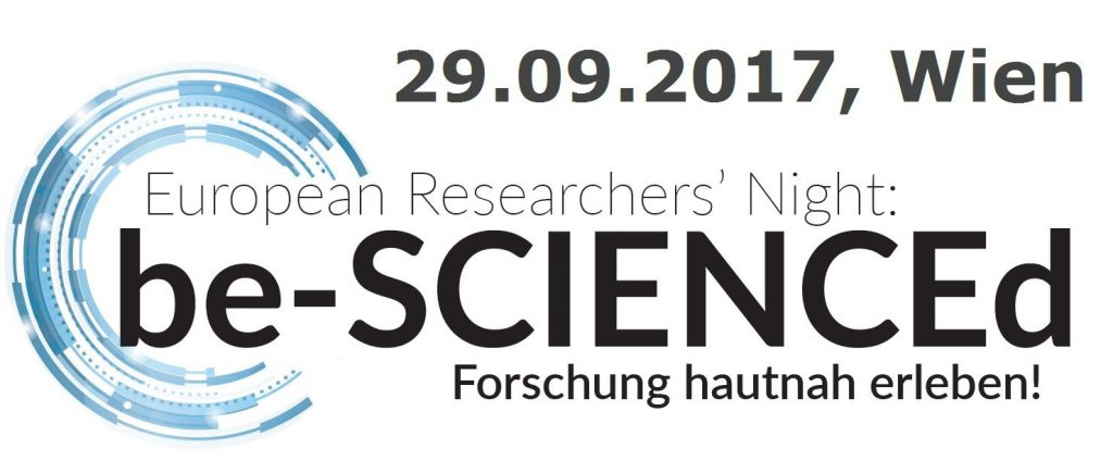 Veranstaltung Be Scienced am 29. September 2017