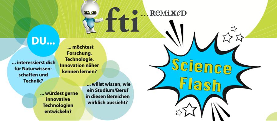 Science Flash - Veranstaltungsankündigung