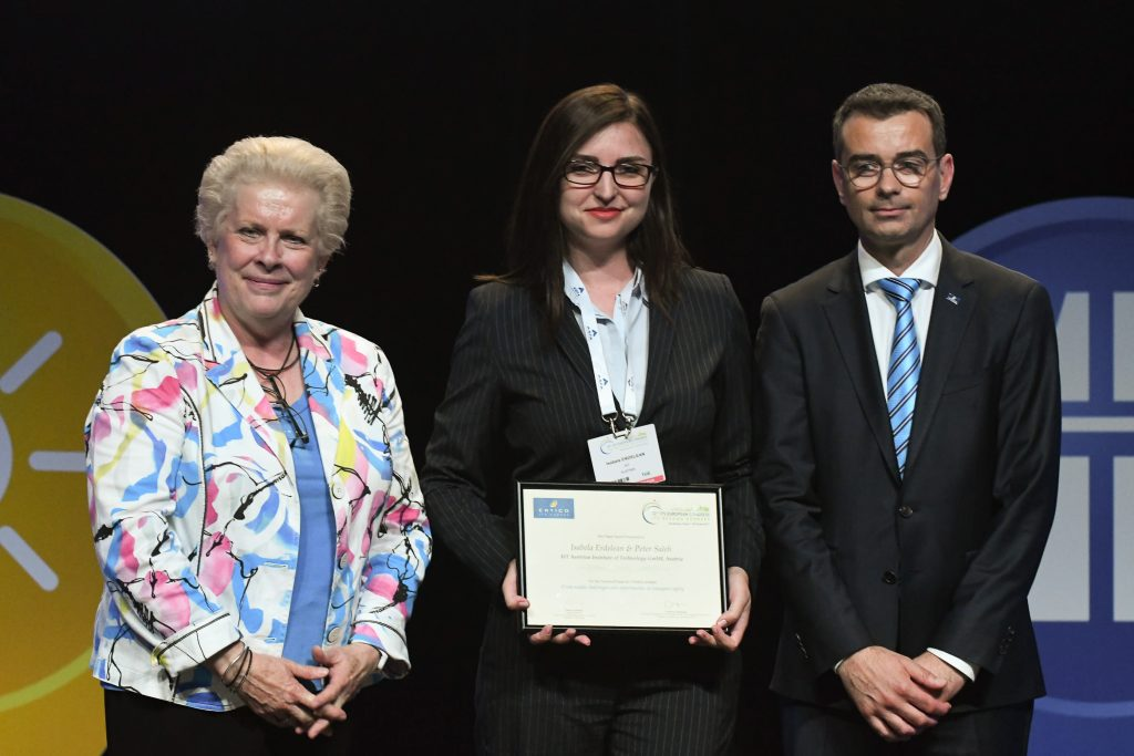 Isabela as the proud winner of the Best Paper Award at ITS Congress 2017