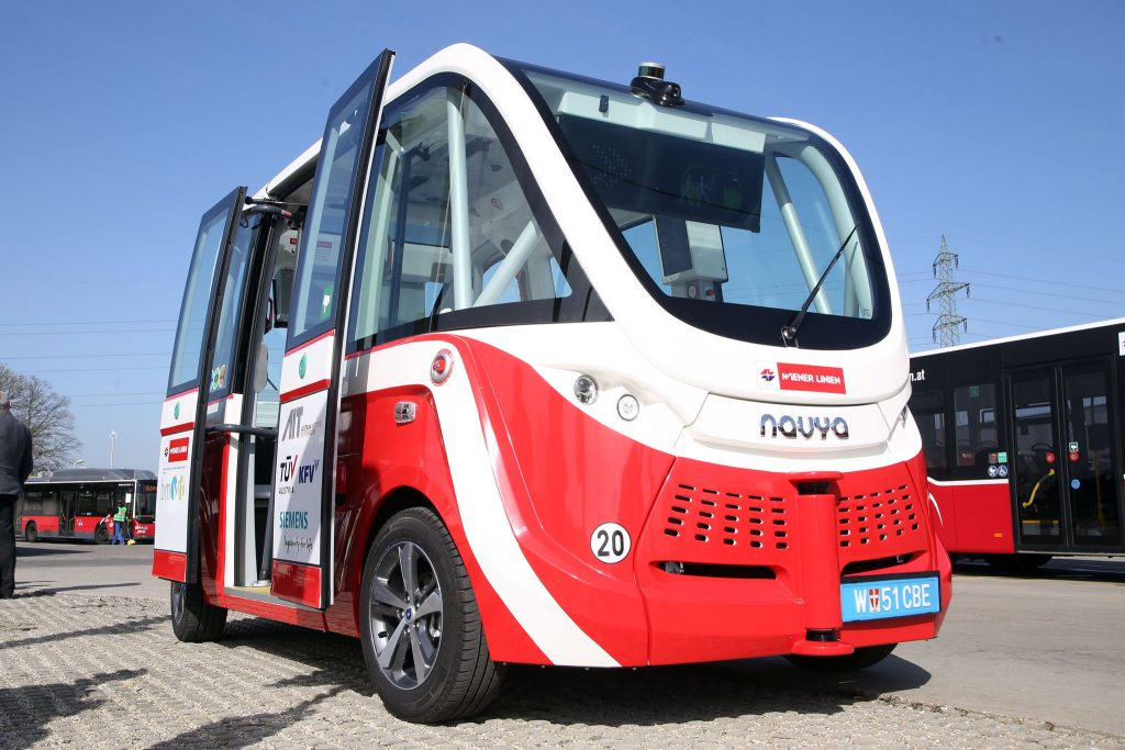 Isabela was involved in the project of developing a self-driving bus for Seestadt Aspern ©PID_Votava