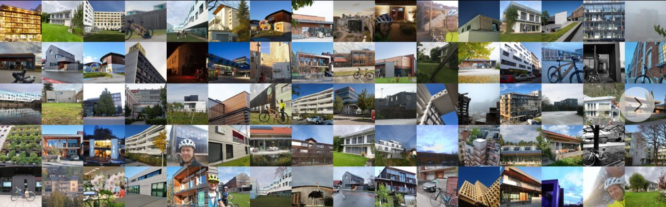 Bildercollage von allen eingereichten Fotos des Fotowettbewerbes passathon des BMK