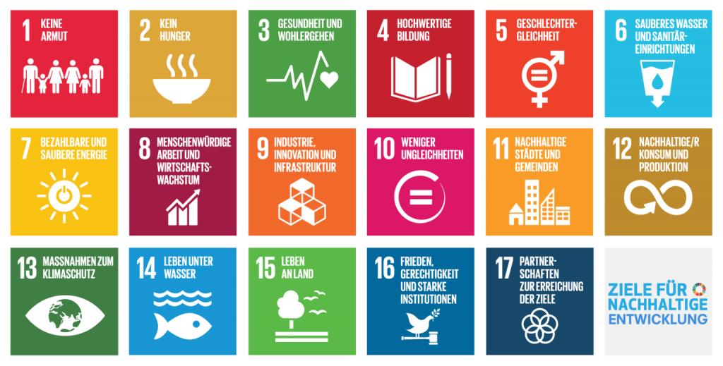 die 17 Ziele für eine nachhaltige Entwicklung